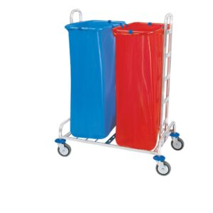 Waste trolleys chrome